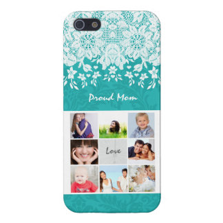 Proud Mom Lace Your Instagram Photos Damask iPhone Cover For iPhone SE/5/5s