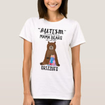 Proud Mom Mama Bear Rock Solid Grizzlies Autism T-Shirt