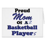 Proud Mom of 2 Basketball Players Card