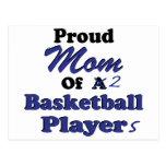 Proud Mom of 2 Basketball Players Postcard