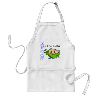 Proud Mom Of 2 Peas In A Pod (Boys) Adult Apron