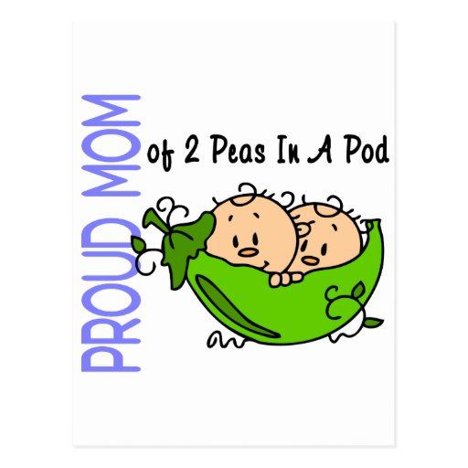 Proud Mom Of 2 Peas In A Pod (Boys) Post Card