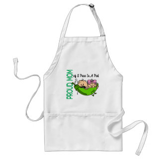 Proud Mom Of 2 Peas In A Pod VERSION 3 Adult Apron
