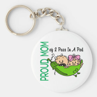 Proud Mom Of 2 Peas In A Pod VERSION 3 Key Chains