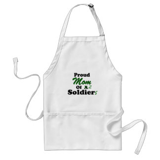 Proud Mom Of 2 Soldiers Adult Apron