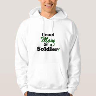 Proud Mom Of 2 Soldiers Hooded Pullovers