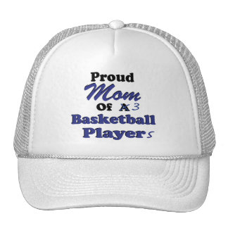 Proud Mom of 3 Basketball Players Trucker Hat