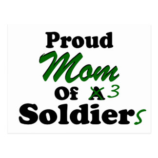 Proud Mom Of 3 Soldiers Postcard