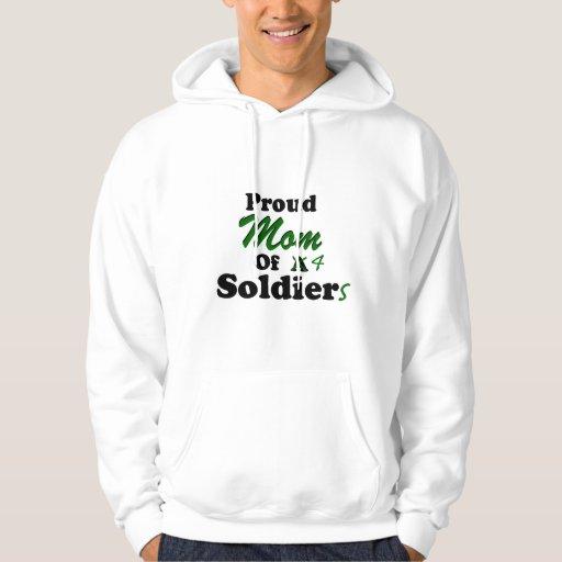 Proud Mom Of 4 Soldiers Hoodie