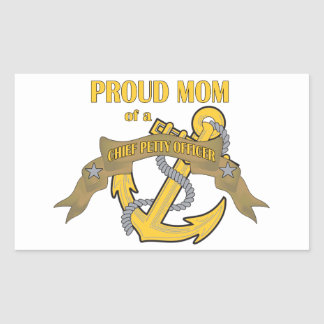 Proud Mom of a Chief Petty Officer Rectangular Sticker