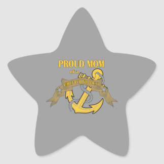 Proud Mom of a Chief Petty Officer Star Sticker