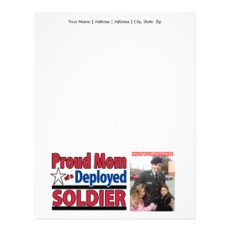 Proud Mom of a Deployed Soldier Letterhead