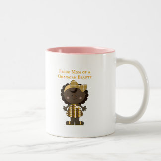 Proud Mom of a Ghanaian Beauty Two-Tone Coffee Mug
