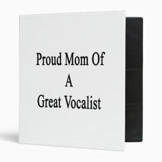 Proud Mom Of A Great Vocalist Vinyl Binders