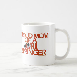Proud Mom Of A Joyful Springer Classic White Coffee Mug