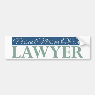 Proud Mom Of A Lawyer Car Bumper Sticker