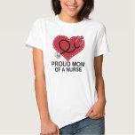 Proud Mom of a Nurse Heart Gift T-Shirt