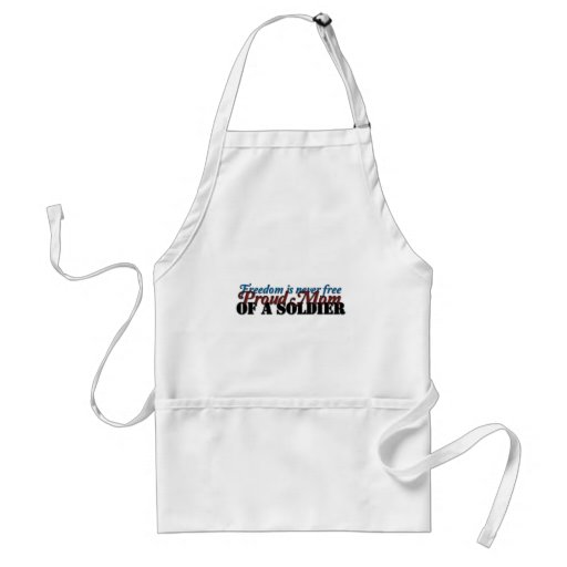 Proud Mom of a soldier Adult Apron