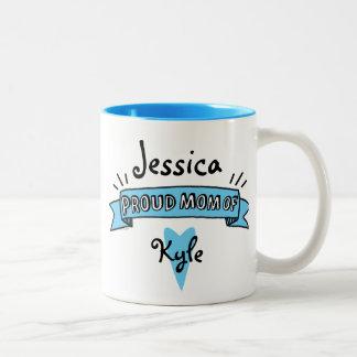 Proud Mom Of A Son Two-Tone Coffee Mug