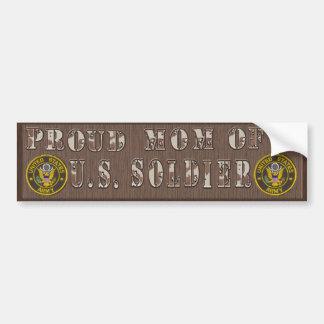 Proud Mom of a U.S.Soldier Bumper Sticker Car Bumper Sticker
