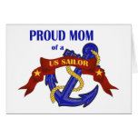 Proud Mom of a US Sailor Greeting Card