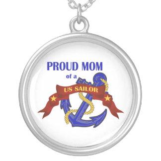 Proud Mom of a US Sailor Pendant