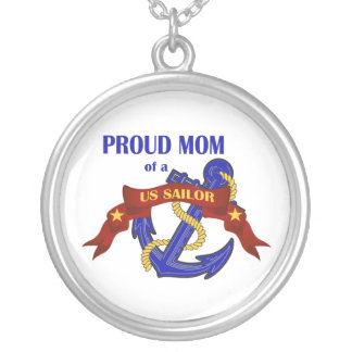 Proud Mom of a US Sailor Pendant