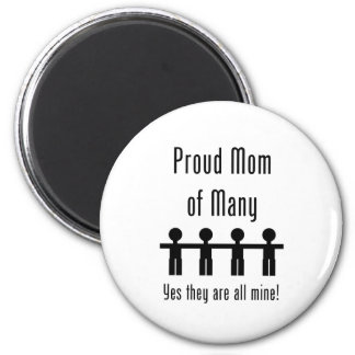 Proud Mom of Many -  4 kids 2 Inch Round Magnet
