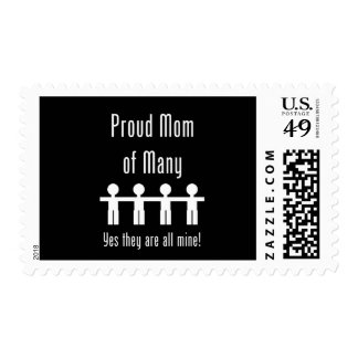 Proud Mom of Many -  4 kids Stamp