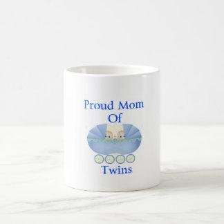 Proud mom of twin boys coffee mug