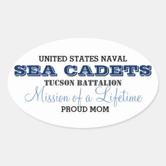Proud Mom Oval Sticker