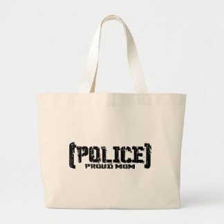 Proud Mom - POLICE Tattered Large Tote Bag
