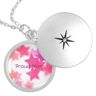 Proud Mom Silver Plated Necklace
