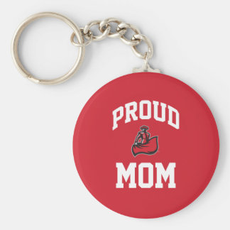 Proud Mom with Matador on Red Keychain