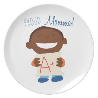 Proud Momma Dinner Plates