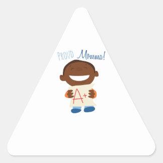 Proud Momma Triangle Sticker