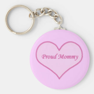 Proud Mommy Keychain, Pink Keychain