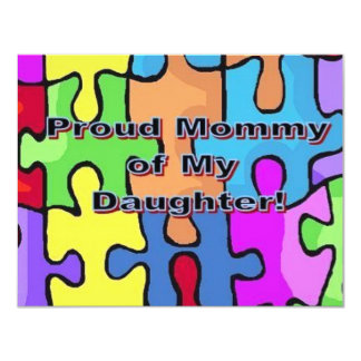 "Proud Mommy of My Daughter 4.25"" X 5.5"" Invitation Card"