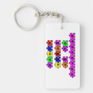 Proud Mommy of my Daughter - Key Chain - Autism Aw