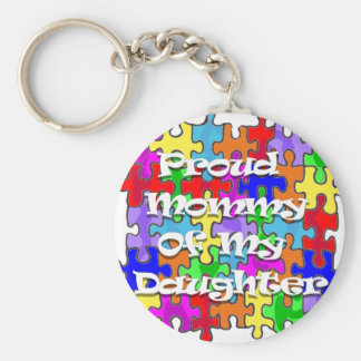 Proud Mommy Of My Daughter Keychain
