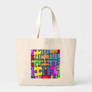 Proud Mommy of My Daughter Large Tote Bag