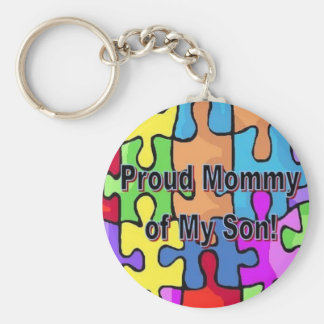 Proud Mommy of My Son Keychain