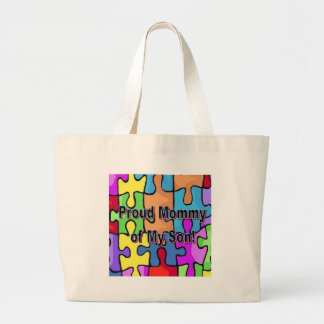 Proud Mommy of My Son Large Tote Bag