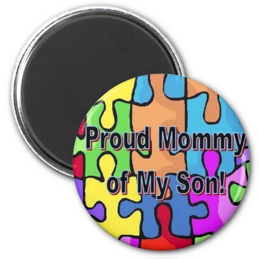Proud Mommy of My Son Refrigerator Magnet
