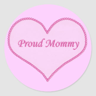 Proud Mommy Stickers, Pink