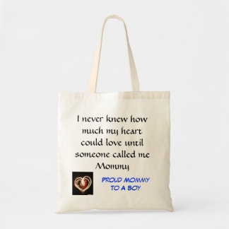 Proud Mommy to a boy tote Budget Tote Bag