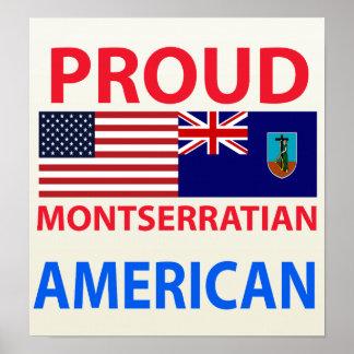 Proud Montserratian American Print