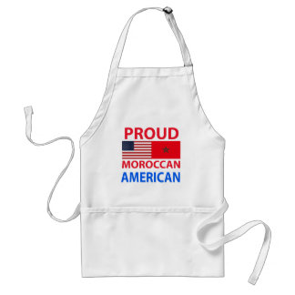 Proud Moroccan American Adult Apron