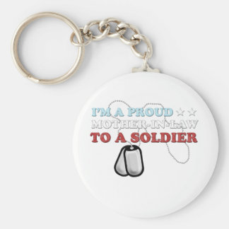 Proud Mother-in-Law to a Soldier Keychain