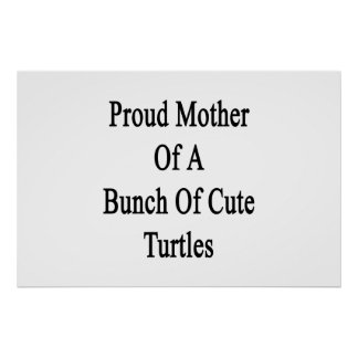 Proud Mother Of A Bunch Of Cute Turtles Poster